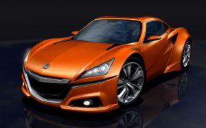 artist's rendering of mini Acura NSX