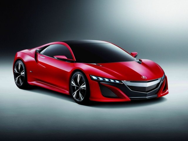 Acura NSX concept red